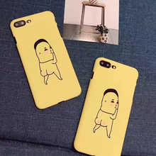 Fashion Hard IMD Case funny boy Graffiti Letter Cartoon Cover For iphone 6 6plus Case For iphone 6S 7 7 PLus Phone Cases Coque(China)