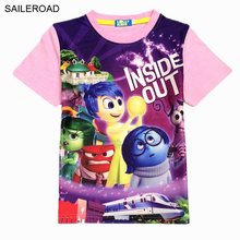 3-9Y Inside Out Kids Childrens Boys Girls t shirts Summer Child T shirt top Tees SAILEROAD Baby Girls Shorts T-Shirt New Cartoon