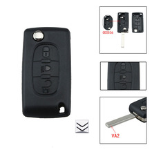 3 Buttons Car Flip Control Remote Key Fob Case For Citroen C2 C3 C4 C5 C6 Picasso CE0536 with logo