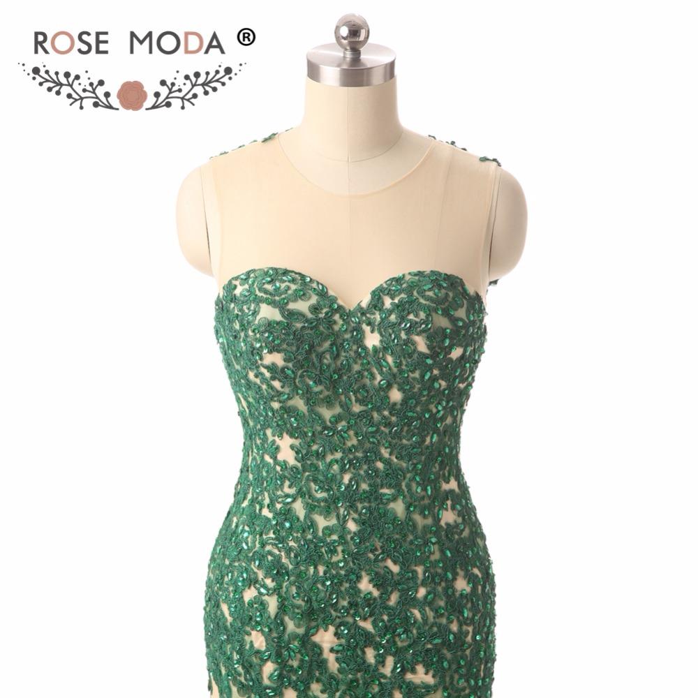 green prom dressd