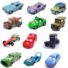 9 styles 100% Original Pixar Cars 2 Diecast Models Vehicles Kids Toys Car For Children Mcque McQueen Cartoon Racing car Model