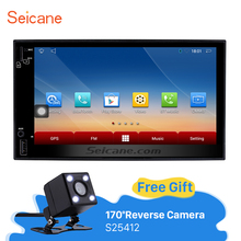 Seicane 7 inch 1024*600 Android 6.0 Universal Car Radio DVD Player GPS Navigation Bluetooth Music USB SD 1080P Video WIFI(China)