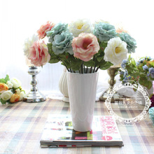 Free shipping.1pcs.European country.Fashion vintage,rose artificial flower real touch decoration flower bride holding flowers,