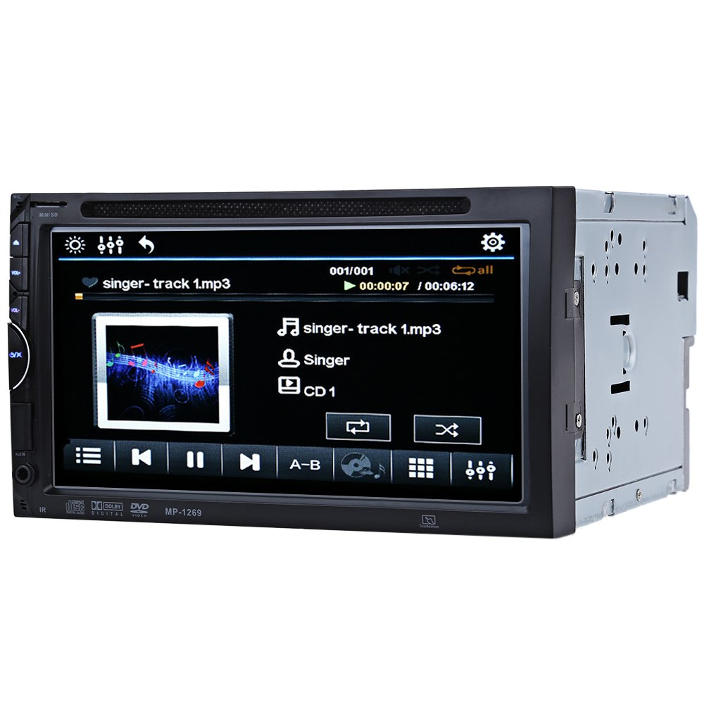 2 Din Car Video DVD Player 7 HD Touch Screen Bluetooth Stereo Radio Car Audio Auto Electronics Support Rear View Camera<br><br>Aliexpress