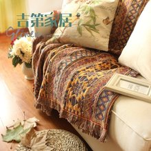DIY handmade Tablecloth cappa scarf cloak carpet Hand hooked fashion crochet blanket cushion felt pastoral style gift