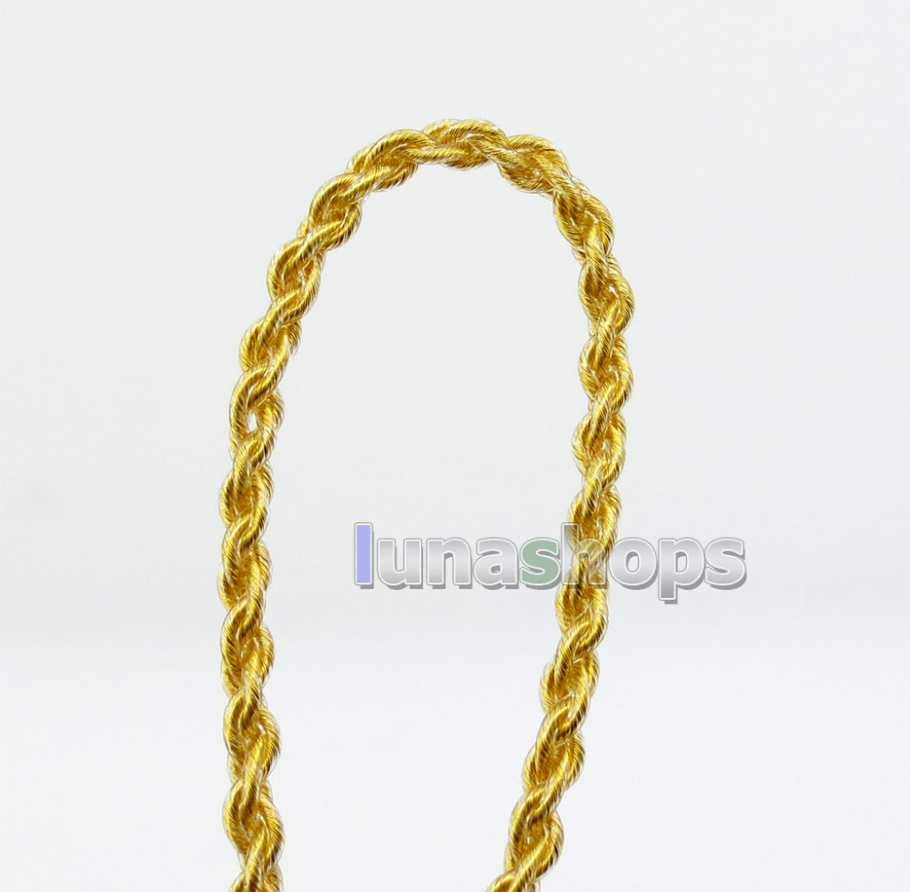 Semi-finished Extremely Soft PVC OCC Golden Plated Bulk DIY Earphone Cable Wires LN005913