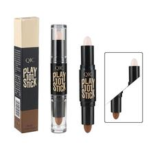 2in1 Natural Face Foundation Cream Double-ended Contour Stick Brand Eye Concealer Stick Facial Makeup Contour Concealer Hot Sale