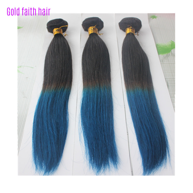 Free Shipping 14~26 3pcs/pack 100% Brazilian Virgin Remy Hair Straight Weave Two Tone Ombre Hair Extension<br><br>Aliexpress