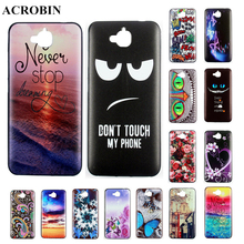 Luxury Painted Pattern Style Cool Gel Soft TPU Silicone Phone Case Cover Celular For Huawei Honor 4C Pro Enjoy 5 Huawei Y6 Pro