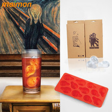 1 Piece Novelty Silicone The Scream Ice Cube Tray Glass Drinks Cup Ice Maker Mold Chocolate Fondant Tool