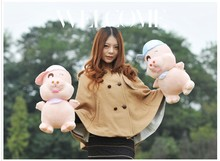 pink or blue hat Mcdull pig Plush toy soft pig doll soft pillow toy birthday gift p9049(China)