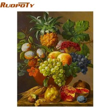 RUOPOTY Fruits Basket Europe Painting DIY Painting By Numbers Kits Acrylic Picture Home Wall Art Decor Unique Gift Home Decor(China)