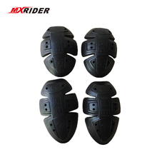 MXRIDER Motorcycle Soft Armour Protector Elbow/shoulder Knee Pads Replaceble PU Pad CE Approve Black color Free shipping(China)