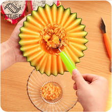 TTLIFE DIY Creative Ice Cream Dig Ball Scoop Spoon Baller Cold Dishes Tool Watermelon Melon Fruit Carving Knife Cutter Gadgets(China)