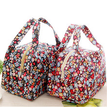 2017 Fashion New Brand Lunch Bag Flowers Insulated Thermal Pouch Storage Box Bento Cooler PicnicTote High Quality EN563