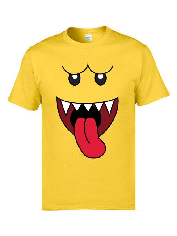boo 16692 Retro Short Sleeve Casual T Shirt Cotton Fabric O Neck Men's Tops Shirts Customized T-shirts Summer Wholesale boo 16692 yellow