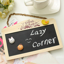 1Pcs/lot Vintage Mini Wood Chalkboard Blackboard Wooden Place Card Holder Table Number for Wedding Event Party Valentine Day(China)