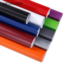 127cmx10cm 3D Car Stickers Waterproof Car Carbon Fiber Vinyl Film Sheet Wrap Roll Auto Car DIY Decor Sticker Paper Car Styling(China)