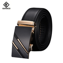 [KAITESICZI] Men's leather belt 2017 new high quality upscale men's suits leather belt Business Classic Hot belt(China)