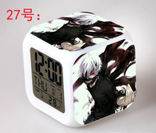Japanese Anime Tokyo Ghoul LED 7 Color Flash Digital Alarm Clocks Kids Night Light Bedroom Clock reloj despertador(China)