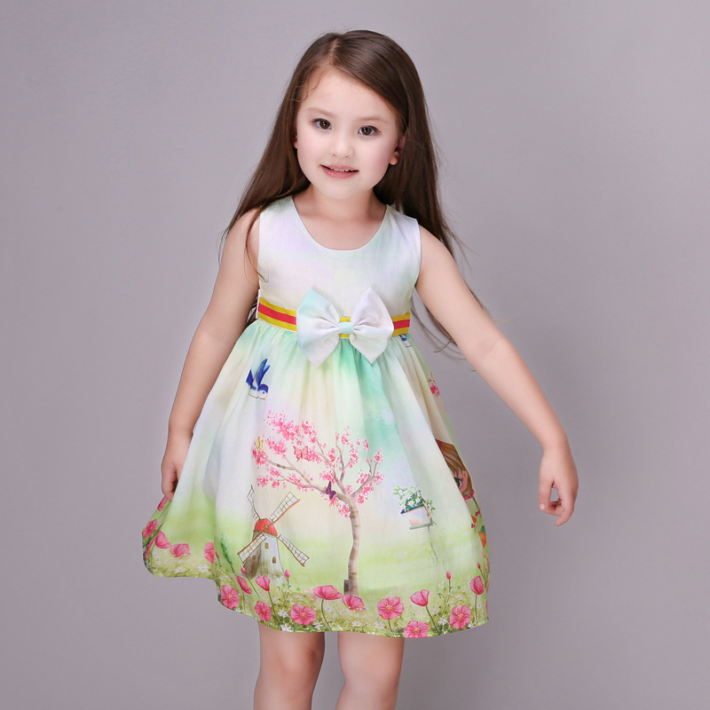 Retail Luxury Flowers 4-14T Girls Dresses For  Evening Party Sequined Princess Summer Dress Girl Children Brand Kids Clothes<br><br>Aliexpress
