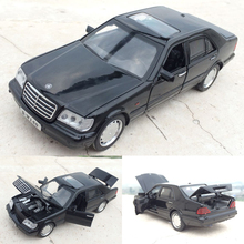High quality high simulation 1:32 alloy pull back car,Hutou Ben W140,Retro S600,metal model cars toy,free shipping