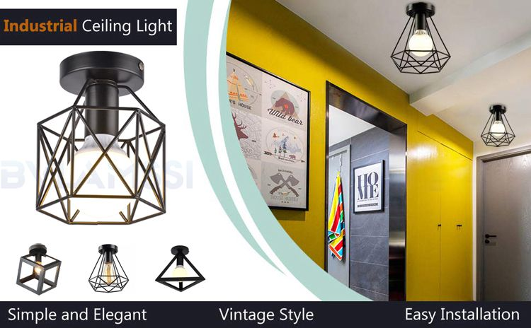 ceiling light lamps iron (1)_