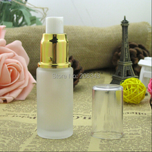 25ml frosted glass bottle with gold sprayer pump ,mist sprayer bottle,perfume bottle glass bottle(China)