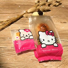 (200Pcs/Lot) PCartoon Hello Kitty Rabbit Candy Biscuit Organizadores Storage Bread Bag