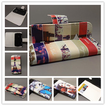 New Butterfly Flower Flag Designer Wallet Flip Stand Book Cover Case for Sony Ericsson Xperia Live Walkman WT19i freeshipping