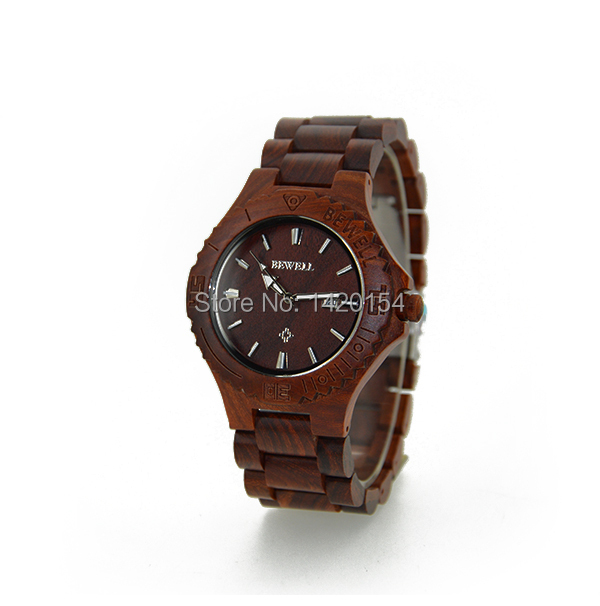2016 BEWELL Pure Red Sandalwood Handmade Wooden Watch Vintage Watches<br>