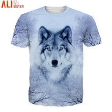 Ice Wolf T Shirt EUR Size 3d T-Shirt Summer Men's Hip Hop Tee Shirts Alisister Brand Clothing Unisex Pullover Tops Dropship(China)