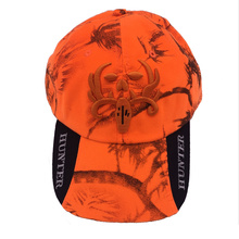 2017 Cotton Underwood Cap Orange Hunter Hunting Fishing Hat Cap Adjustable Camo Camouflage Outdoor Hats Free shipping(China)