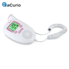 ACurio Ultrasonic Pregnant Prenatal Heart Rate Monitor Portable Detector Fetal Doppler Baby Heart Rate Monitor with LCD Display(China)