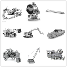 Tank/Engineering vehicle/Black Pearl/Goldenhind,Creative gifts,DIY Metal model NANO 3D Puzzles ,Various styles gift to children