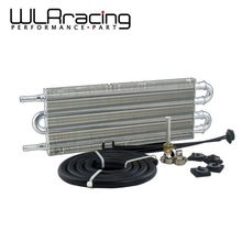 WLRING STORE- UNIVERSAL 305X127X19.05 ALUMINUM REMOTE TRANSMISSION OIL COOLER KIT/AUTO-MANUAL RADIATOR CONVERTER WLR7432(China)