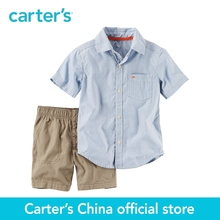 Carter's 2pcs baby Striped Button-Front & Canvas Short Set 229G430,sold by Carter's China official store