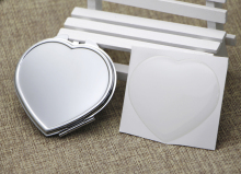 Heart Pocket Mirror Silver Compact Mirror +Resin Epoxy Sticker DIY set Trail order 5 pieces/lot #M0838(China)