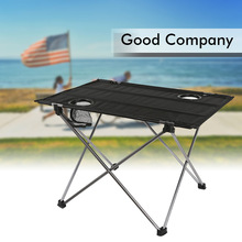 Aluminium Alloy Waterproof Ultra-light Durable Desk Outdoor Foldable Table For Picnic Camping Hogard(China)