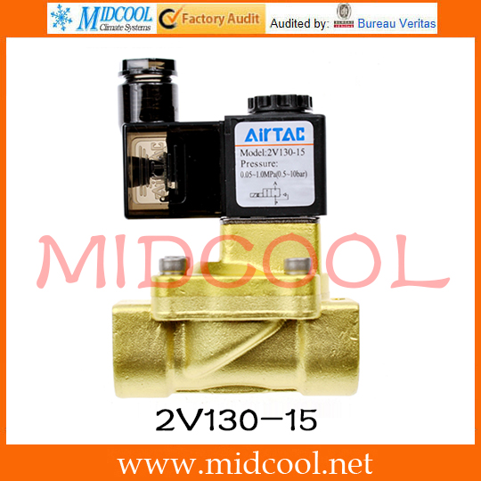 Original AirTAC Fluid control valve(2/2way) 2V Series 2V130-15<br>