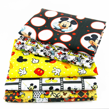 David accessorie 50*145cm Mouse Polyester&cotton fabric for Tissue Kids Bedding home textile for Sewing Tilda,1Yc415(China)