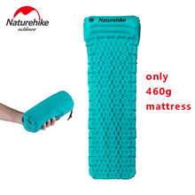 2017 Naturehike Outdoor Camping Mat TPU Inflatable Mattress 1 Persom Ultralight Portable Sleeping Pad Airbed with Pillow(China)