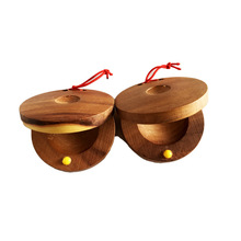 Castanets Wood Musical Instrument Education Child's Intellectual Development Listening Ability G10-1(China)