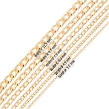 Gold 316L Stainless Steel 1:1 NK link men  cuban chains necklaces jewelry Christmas gifts lenght customized