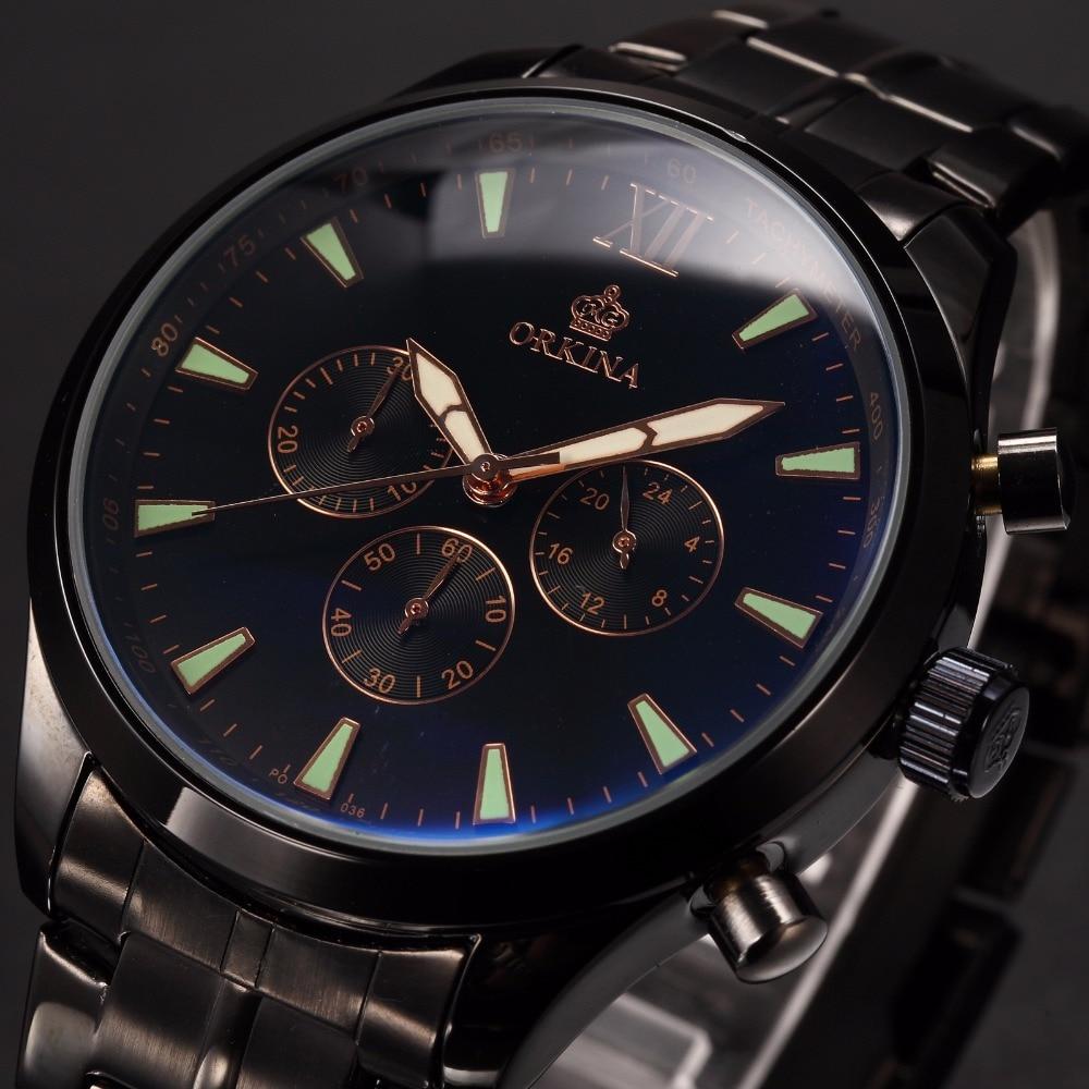 MG. ORKINA Male Quartz Analog Watch Stainless Steel Case Relogio Masculino Japan Movement Wristwatch Chronograph Clock Men<br>