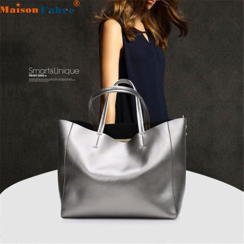 Autumn and winter new fashion leather handbag large bag female leather shoulder bag large capacity shopping bag<br>
