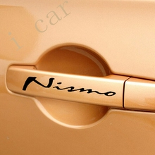 (4 pieces/set) NISMO Car Doorknob stickers for nissan qashqai juke x-trail tiida note almera car accessories