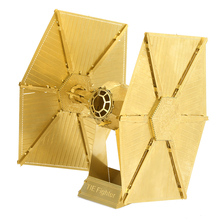 Star Wars TIE FIGHTER golden 6 Inch 2 Sheets Creative gift brass Chinese toy 3D Metal Model Etching Puzzle