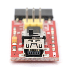 Hot Sale 1PC 3.3V / 5V Basic program downloader / USB switch TTL FT232/ for arduino With USB2.0 to Mini USB Cable