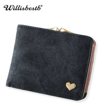 New Woman Wallet Small Hasp Coin Purse For Women Luxury Leather Female Wallets Design Brand Mini Lady Purses Clutch Card Holder(China)